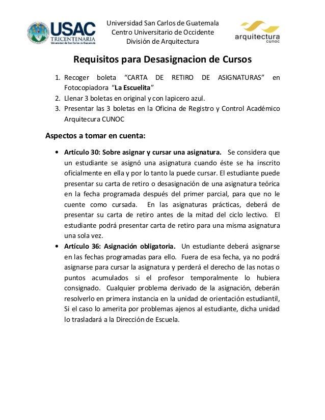 Universidad San Carlos de Guatemala                    Centro Universitario de Occidente                         División ...
