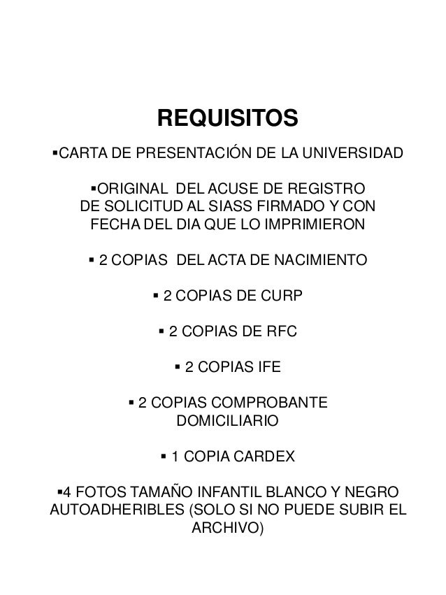 Requisitos para expedientes psicología