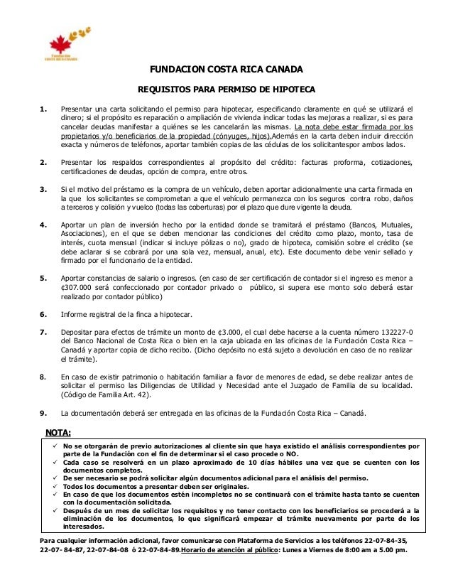 Requisitos Para Hipoteca
