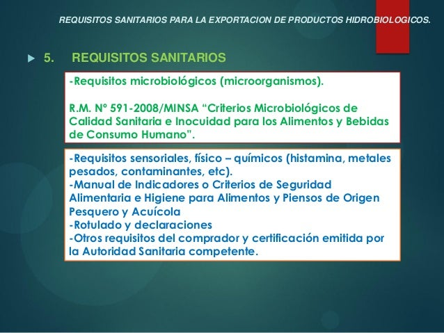 Siicex Requisitos Sanitarios Itp 2013