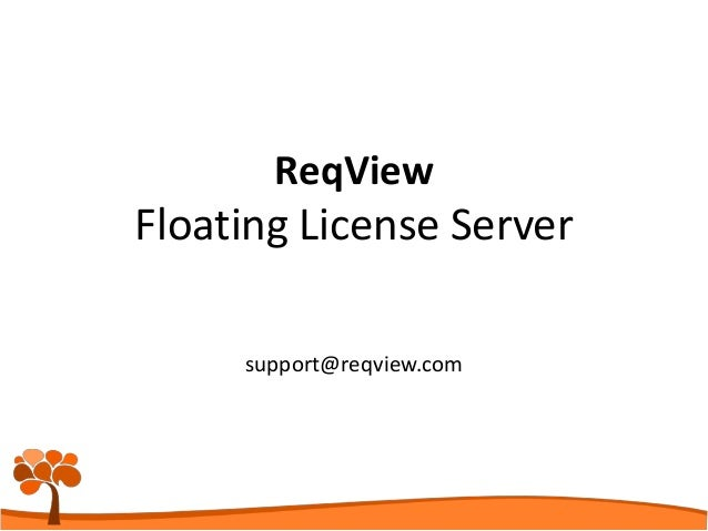 support@reqview.com ReqView Floating License Server