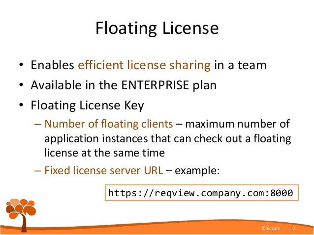 ReqView Floating License Server Slide 2