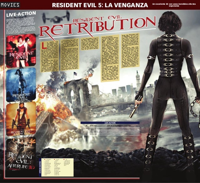 RESIDENT EVIL 5: LA VENGANZA  MOVIES ublicadas s han sido p dounidense todas distribuidas s esta Las película e Resident E...