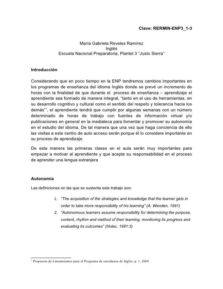 Clave: RERMIN-ENP3_1-3                                 María Gabriela Reveles Ramírez                                     ...