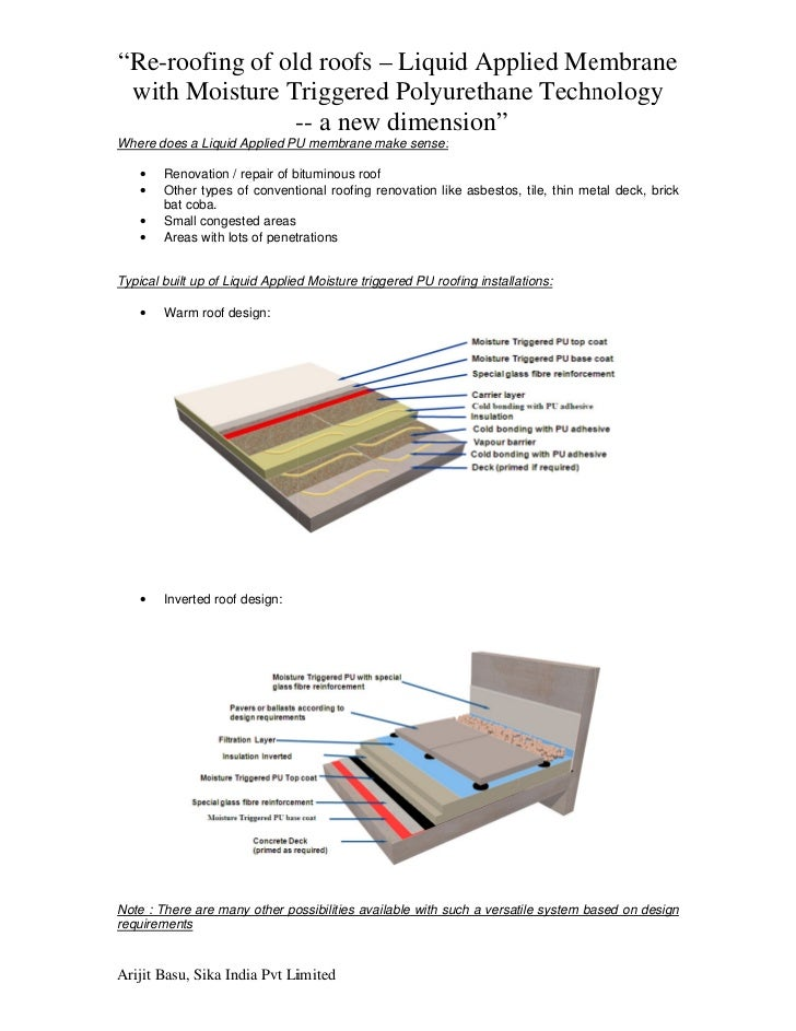 Liquid Applied Membrane : Re roofing of old roofs liquid applied membrane with