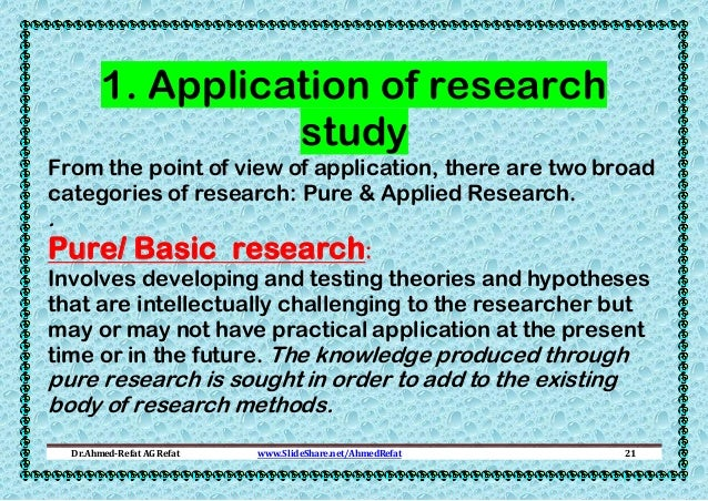 Basic Research and Applied Research Definitions and ...