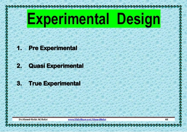 experimental research design paper Research methods & experimental design there are any different ways of classifying research designs which probably will have a number of academic papers.