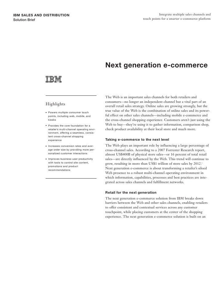 IBM SALES AND DISTRIBUTION                                                                           Integrate multiple sa...
