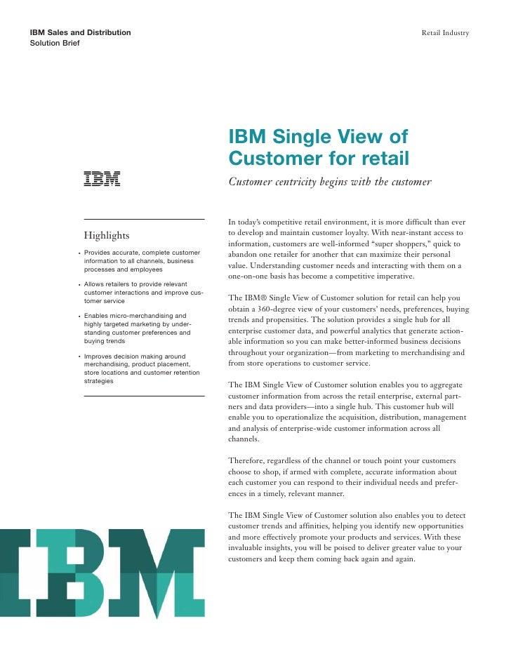 IBM Sales and Distribution                                                                                          Retail...