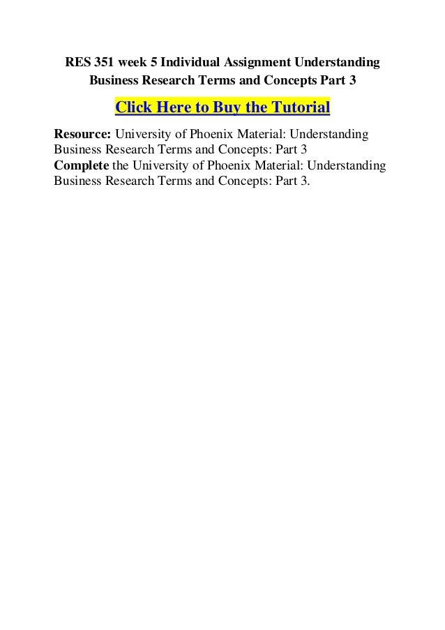 Understanding Business Research Terms and Concepts Essay Sample