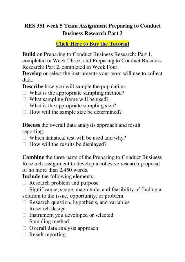 Res 351 week 3 stages of the research process
