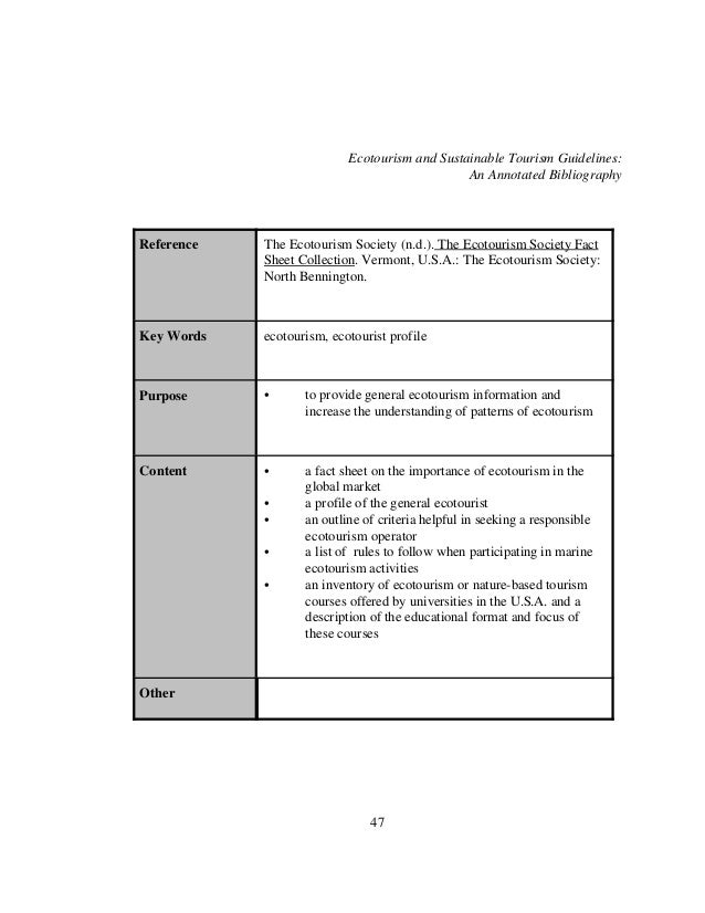 Eco Tourism Essay Sample