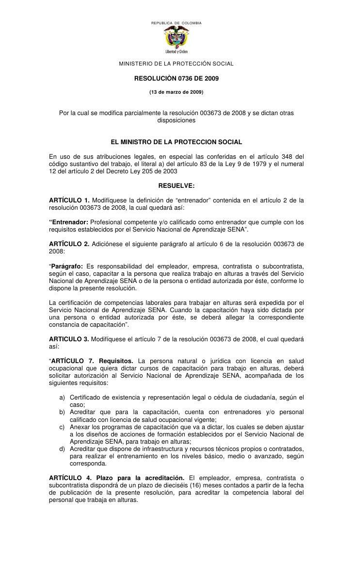REPUBLICA DE COLOMBIA                              MINISTERIO DE LA PROTECCIÓN SOCIAL                                 RESO...
