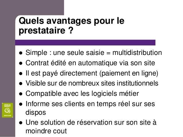 Quels avantages pour leprestataire ?   Simple : une seule saisie = multidistribution   Contrat édité en automatique via ...