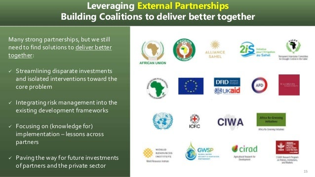 Leveraging External Partnerships Building Coalitions to deliver better together Many strong partnerships, but we still nee...