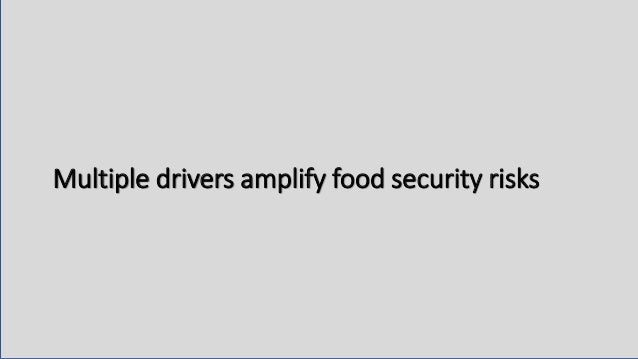 Multiple drivers amplify food security risks