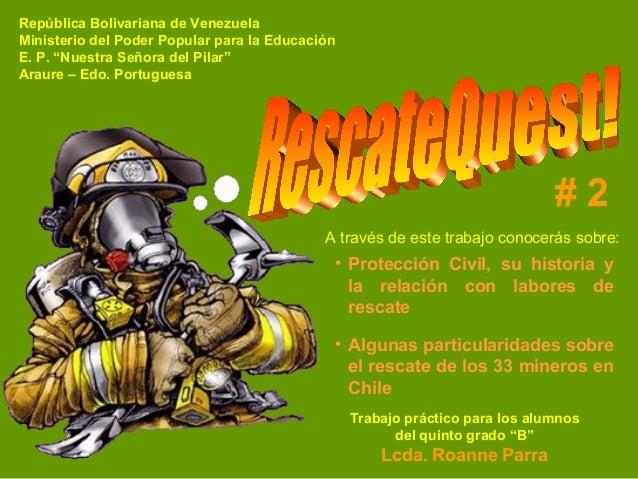 """República Bolivariana de Venezuela Ministerio del Poder Popular para la Educación E. P. """"Nuestra Señora del Pilar"""" Araure ..."""