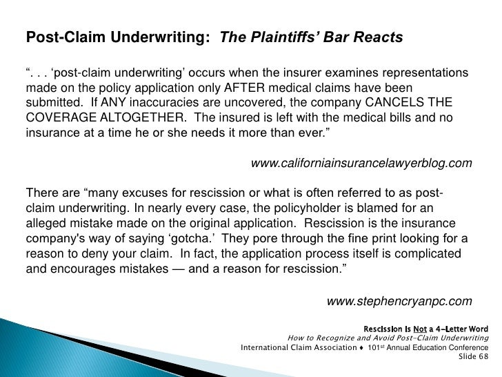 Rescission is Not a Four-Letter Word