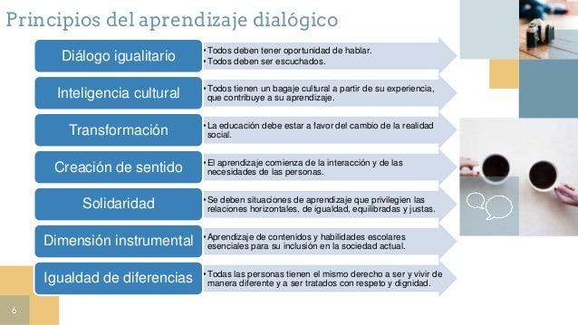 6 •Todos deben tener oportunidad de hablar. •Todos deben ser escuchados.Diálogo igualitario •Todos tienen un bagaje cultur...