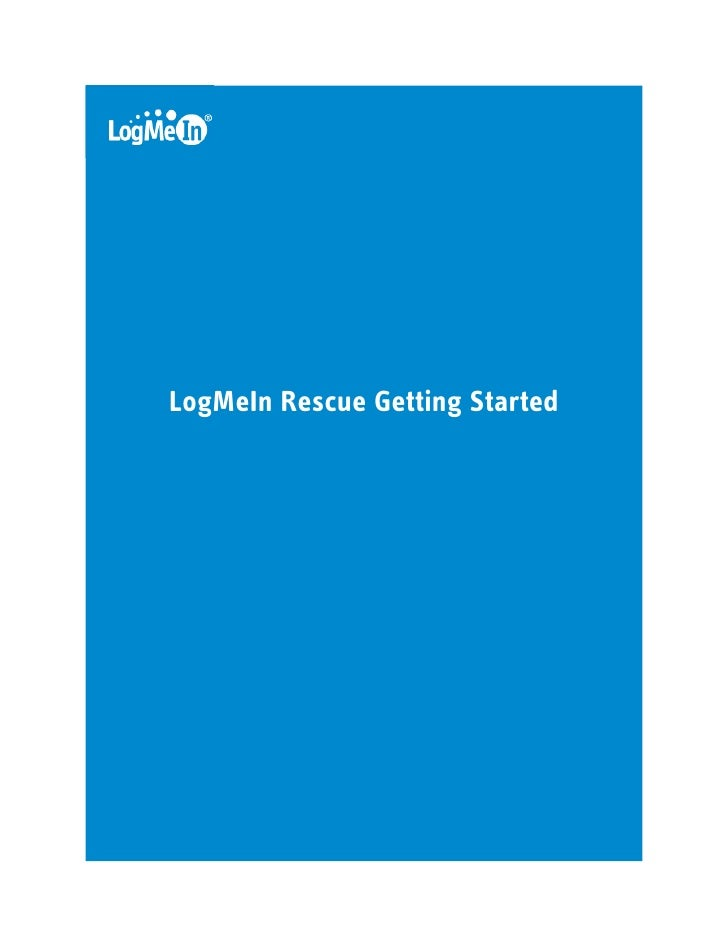 LogMeIn Rescue Getting Started