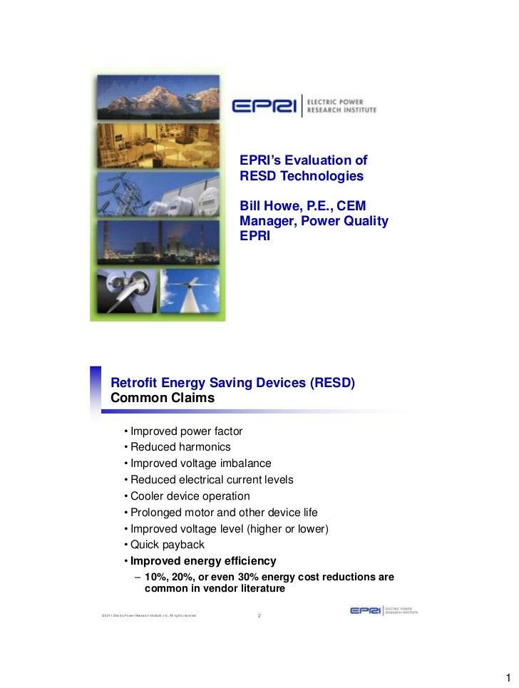 EPRI's Evaluation of                                                                      RESD Technologies               ...
