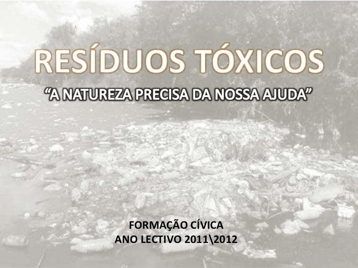 FORMAÇÃO CÍVICAANO LECTIVO 20112012