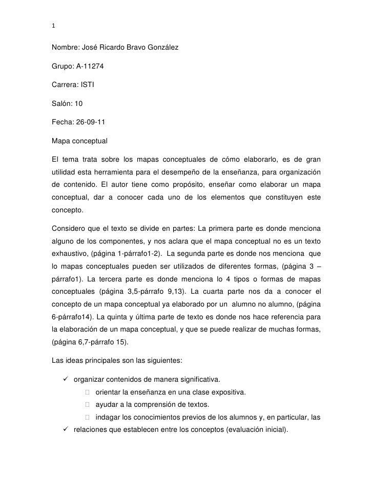 Nombre: José Ricardo Bravo González<br />Grupo: A-11274<br />Carrera: ISTI<br />Salón: 10<br />Fecha: 26-09-11<br />Mapa c...