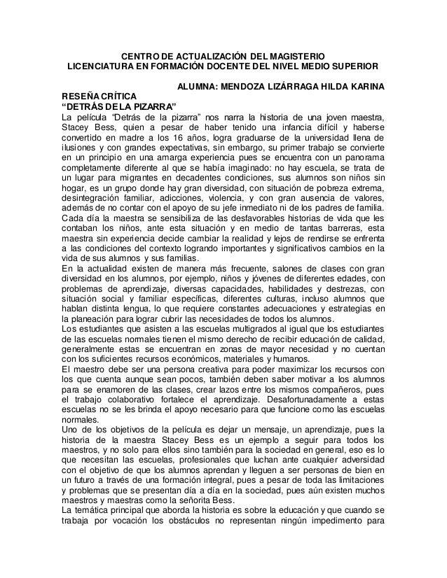 CENTRO DE ACTUALIZACIÓN DEL MAGISTERIO  LICENCIATURA EN FORMACIÓN DOCENTE DEL NIVEL MEDIO SUPERIOR  ALUMNA: MENDOZA LIZÁRR...
