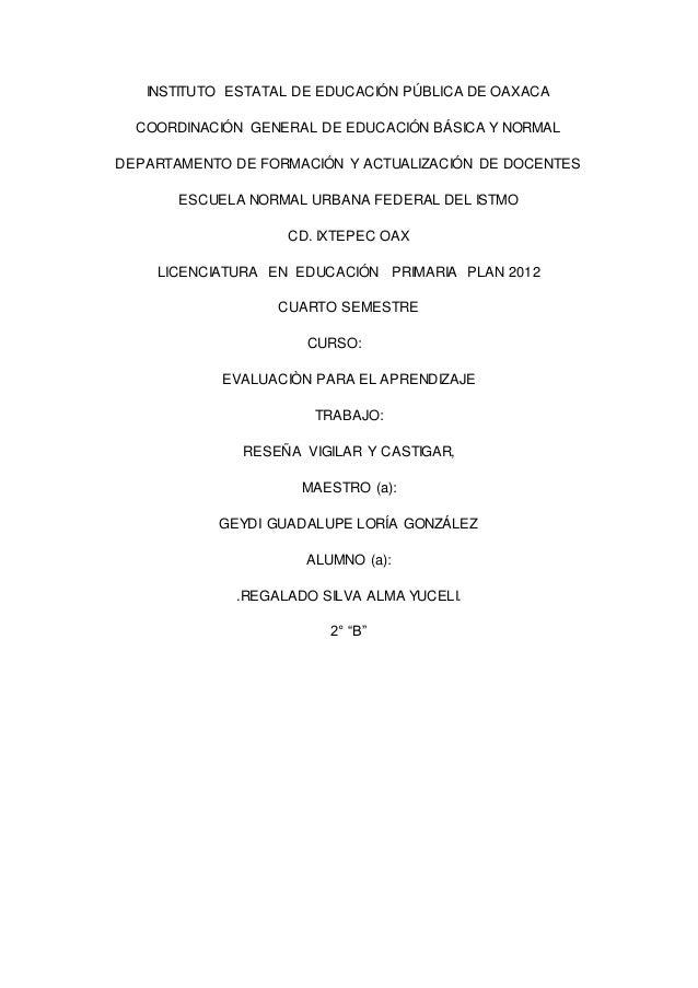 INSTITUTO ESTATAL DE EDUCACIÓN PÚBLICA DE OAXACA COORDINACIÓN GENERAL DE EDUCACIÓN BÁSICA Y NORMAL DEPARTAMENTO DE FORMACI...