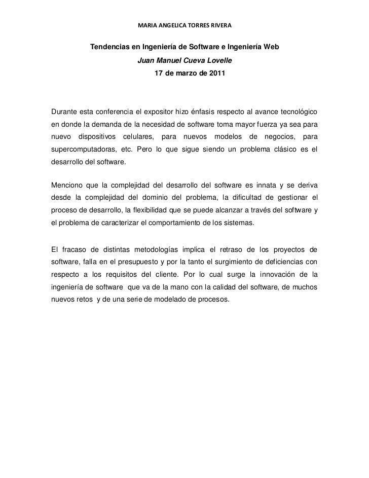 Tendencias en Ingeniería de Software e Ingeniería Web<br />Juan Manuel Cueva Lovelle<br />de marzo de 2011<br />Durante es...