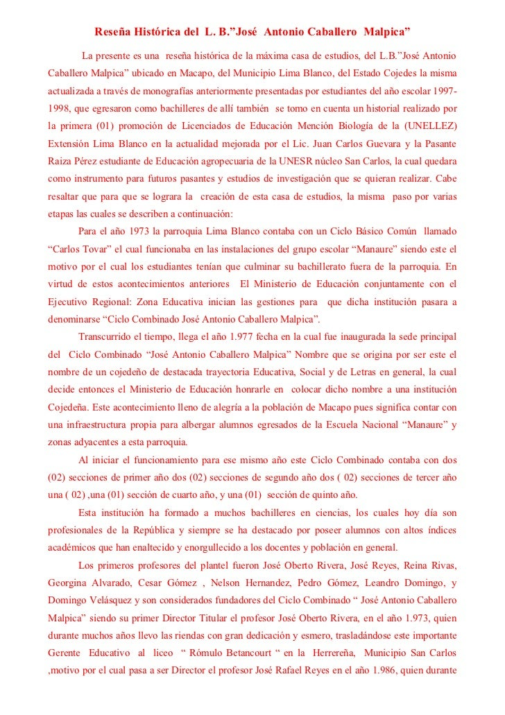Reseña Histórica Caballero Malpica Slide 2