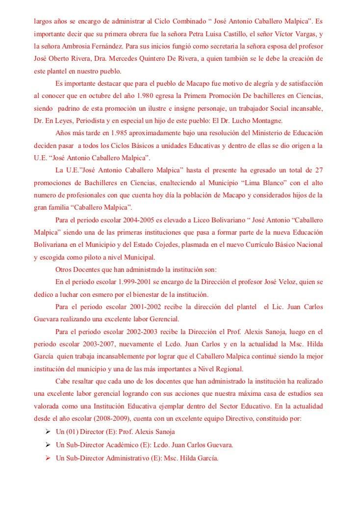 Reseña Histórica Caballero Malpica Slide 3