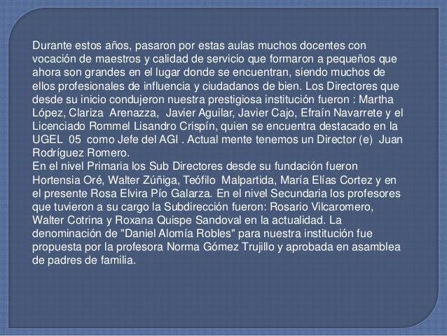 EL autor de la letra y música del Himno del colegio es el señor SIMÓNVELA ESPINOZA. Durante su vida institucional nuestro ...