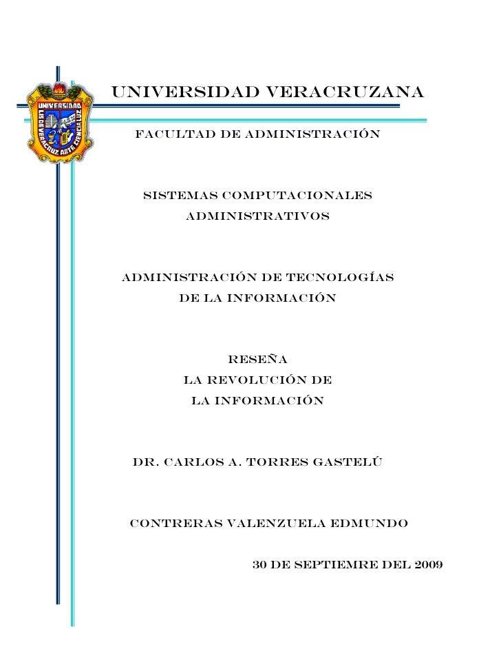 UNIVERSIDAD VERACRUZANA   Facultad de ADMINISTRACIÓN       SISTEMAS COMPUTACIONALES       ADMINISTRATIVOS     ADMINISTRACI...