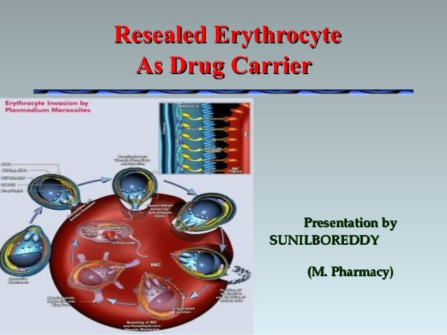 Presentation byPresentation by SUNILBOREDDYSUNILBOREDDY (M. Pharmacy)(M. Pharmacy) Resealed ErythrocyteResealed Erythrocyt...