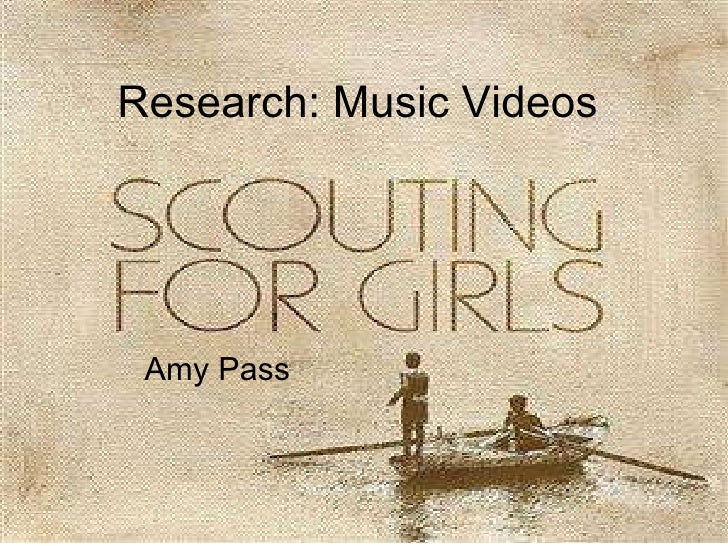Research: Music Videos  Amy Pass