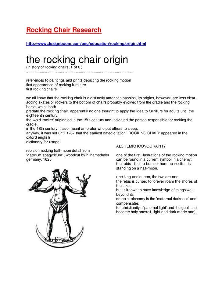 Rocking Chair Research<br />http://www.designboom.com/eng/education/rocking/origin.html<br />the rocking chair origin( his...