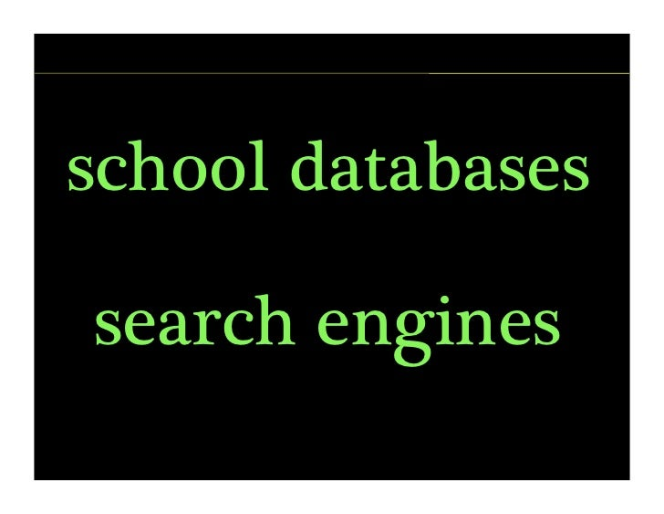 school databases  search engines