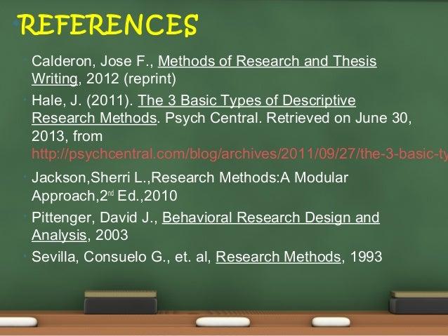 thesis writing by jose calderon