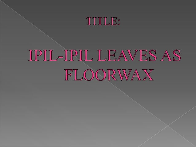 ipil ipil leaves