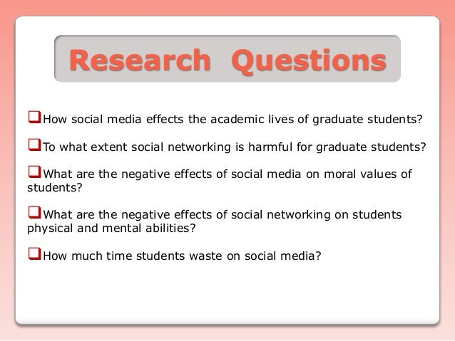 social media thesis research questions Activism in the social media age  it conducts public opinion polling, demographic research, media content analysis and other empirical social science research.