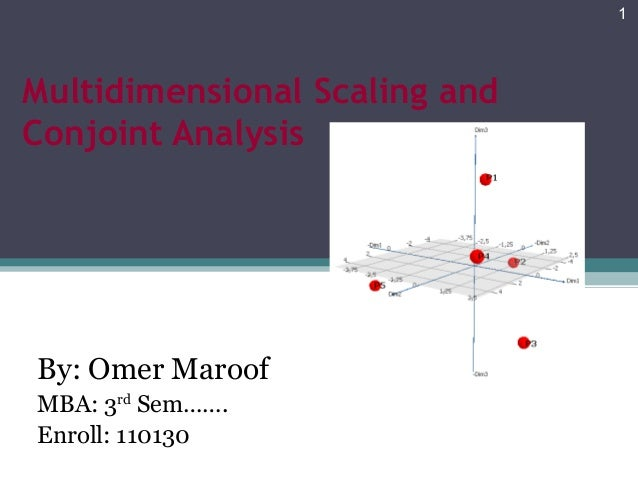 Multidimensional Scaling and  Conjoint Analysis  By: Omer Maroof  MBA: 3rd Sem…….  Enroll: 110130  1