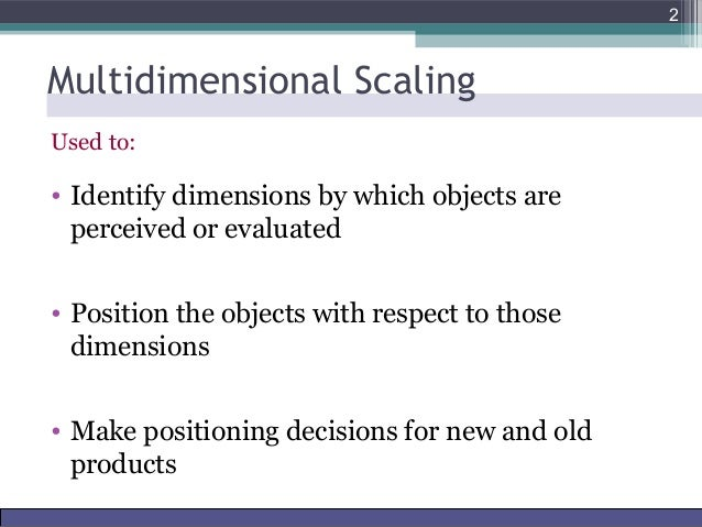 Multidimensional scaling & Conjoint Analysis
