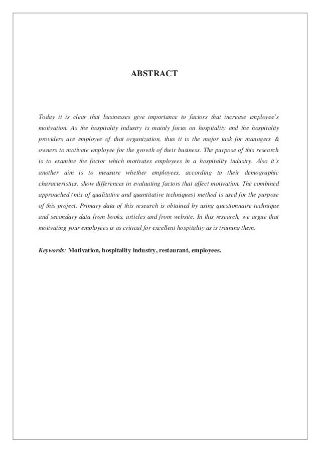 restaurant management research paper Custom written research papers on human resource management and the techniques and strategies involved in hr at paper masters.