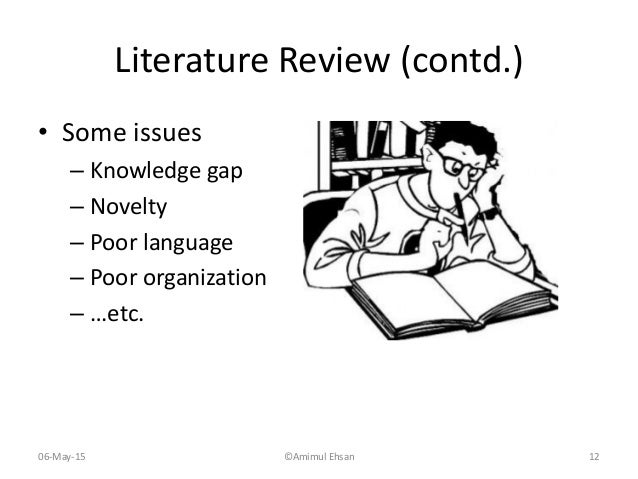 how to write research gap in literature review