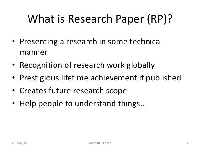 creative ways to present a research paper Whereas writers do research for papers so that they enter into specific conversations, they provide their readers with a contextualization in their conclusions so.