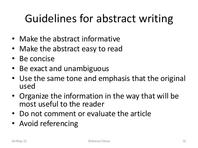 how to write a good research abstract