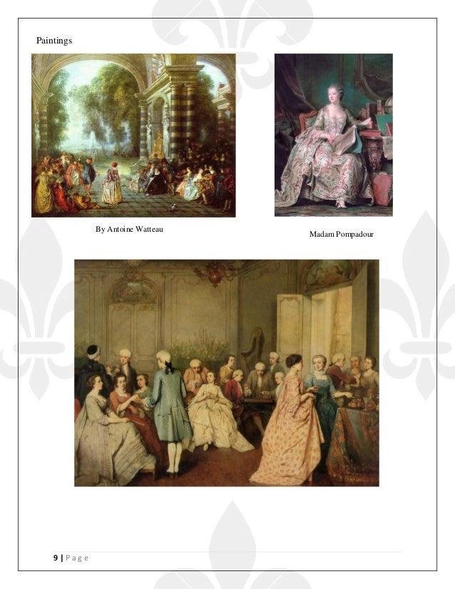 9   P a g e By Antoine Watteau Madam Pompadour Paintings