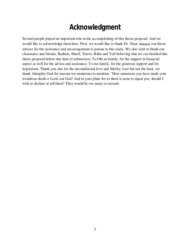 writing acknowledgements research paper