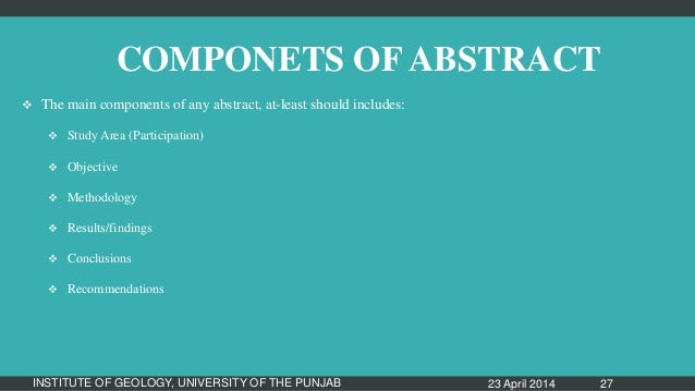 how to write an effective abstract for a research paper